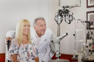 Ophthalmologist with a Patient