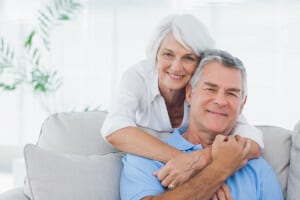 Elderly couple smiling after Glaucoma Surgery