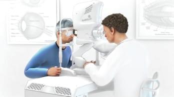 Man Having an Eye Exam