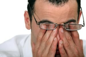 Man suffering from Dry Eyes