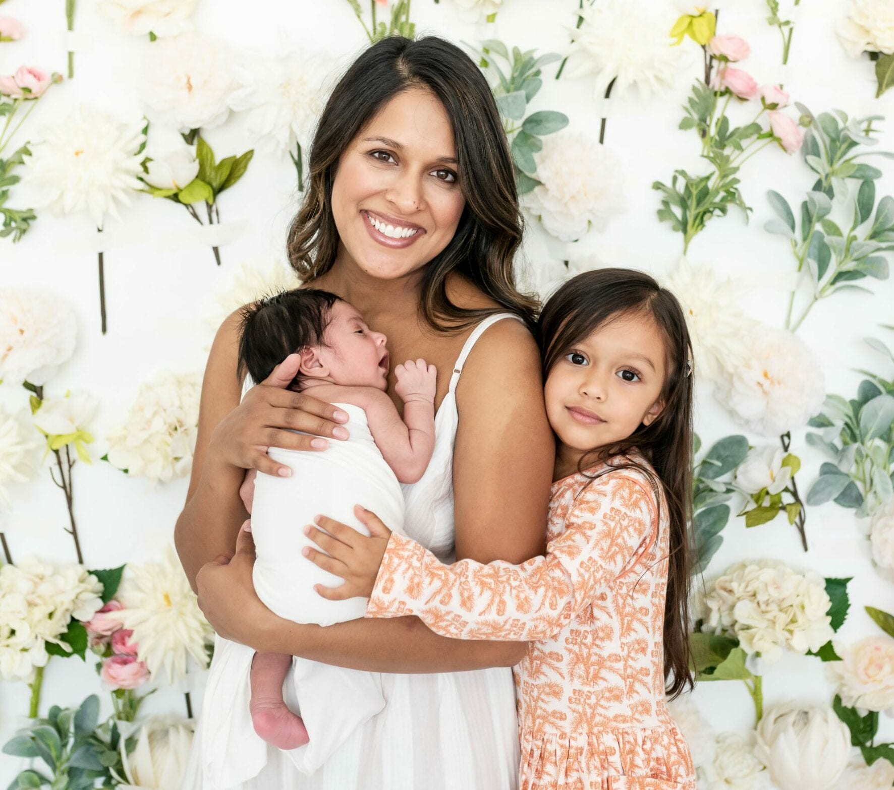 Dr. Panchal with her daughters