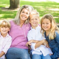 Dr. Sims and her children